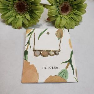 Anthropologie October birthstone necklace